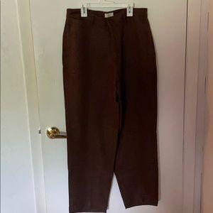 Brown linen pants. Size 33/30.